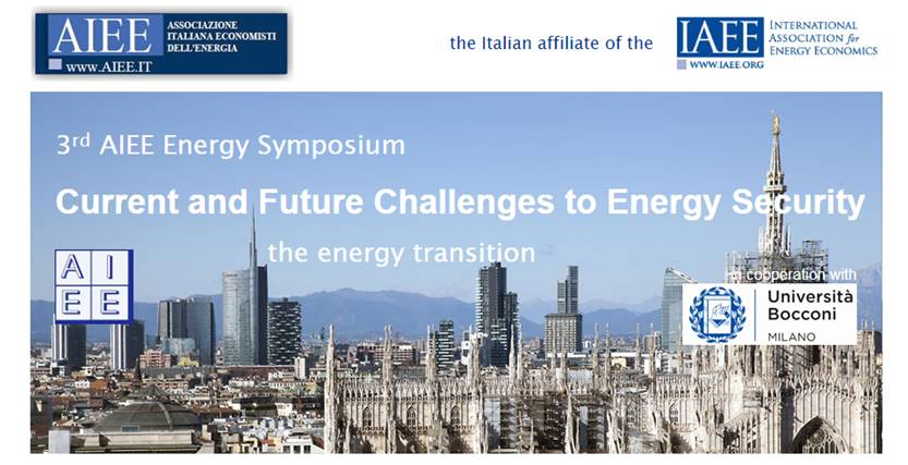3rd AIEE Energy Symposium Current and Future Challenges to Energy Security