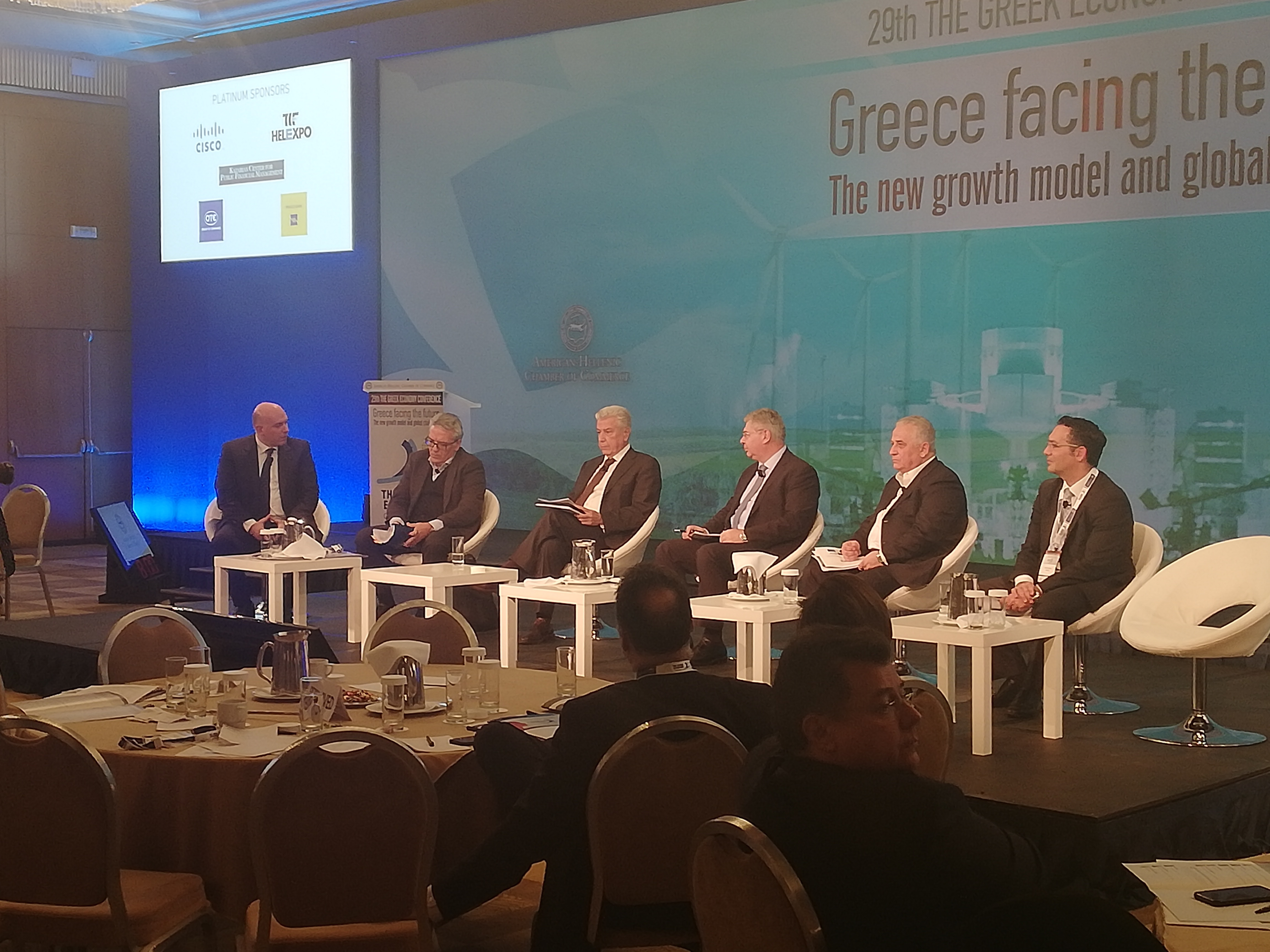 Dr. Kostas Andriosopoulos at the 29th Greek Economy Conference
